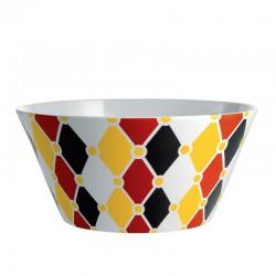 circus, insalatiera in bone china decorata