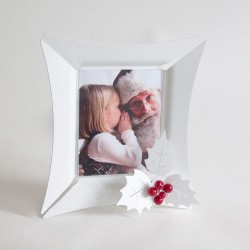 porta foto holly xmas bianco  26x28h  13x18