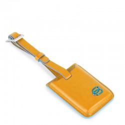 address tag con connequ in pelle giallo