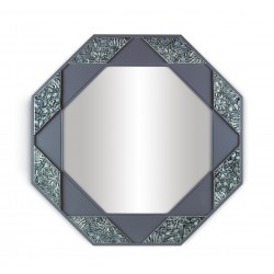 specchio ottagonale  azzurro