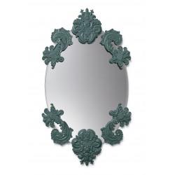 specchio ovale senza cornice  verde