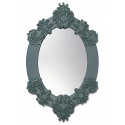 specchio ovale  verde