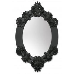 specchio ovale  nero
