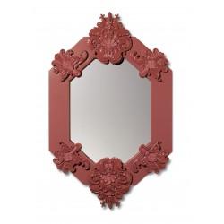 specchio ottagonale  rosso