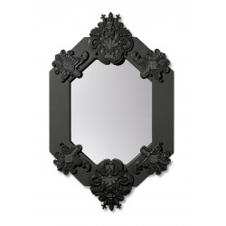specchio ottagonale  nero
