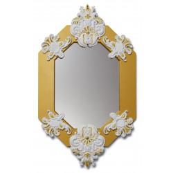 specchio ottagonale  bianco  oro