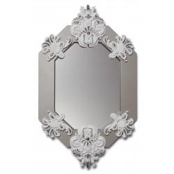 specchio ottagonale  bianco  argento