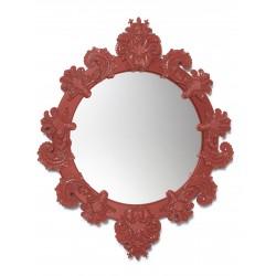 specchio rotondo piccolo  rosso